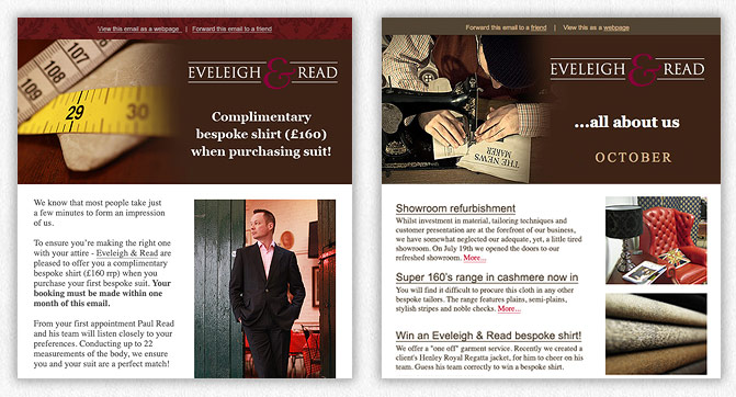 Eveleigh & Read Email templates