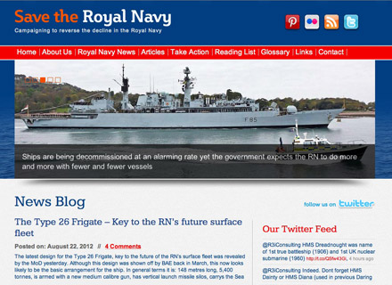 Save the Royal Navy Website