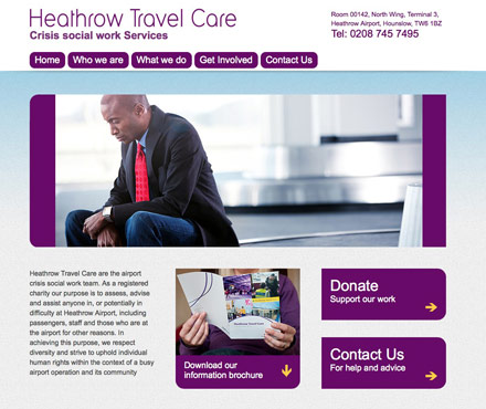 Heathrow Travel Care website