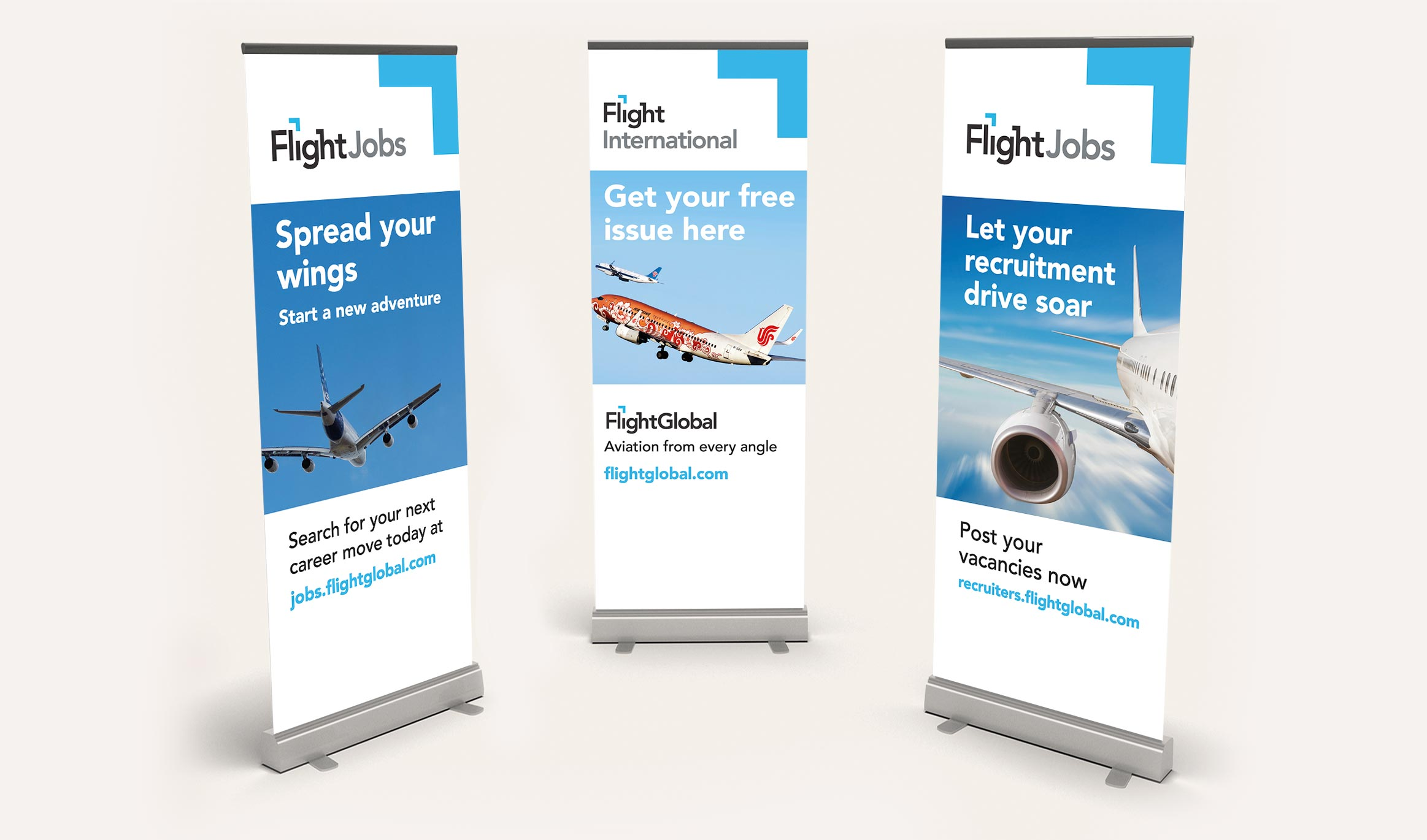FlightGlobal pull-up banners