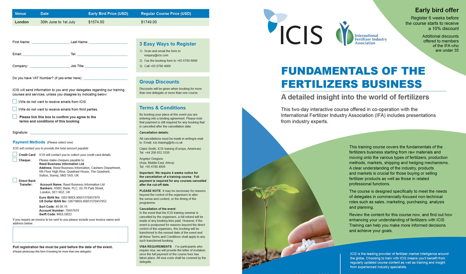 ICIS training course brochures