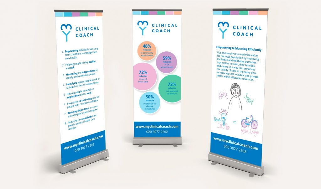 My Clinical Coach pull up banners