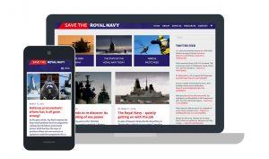 Save the Royal Navy Website Design