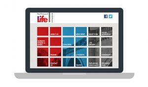 Vineyard life church website design