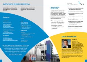 Training course brochure