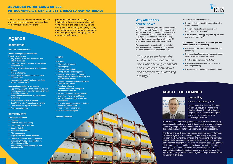ICIS training course brochures – 3Sixty Creative