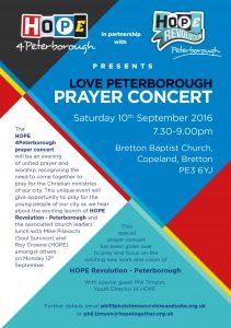 Youth Prayer Concert Leaflet