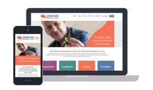 Umbrella Brighton charity website