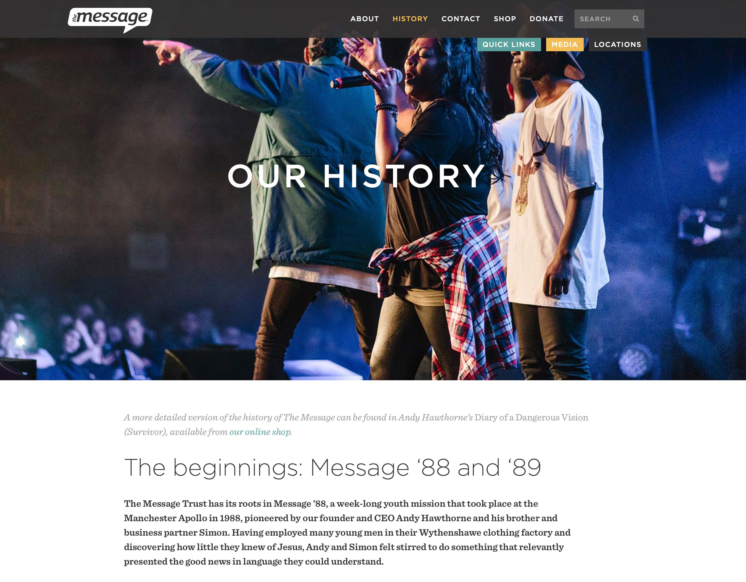 The Message Website